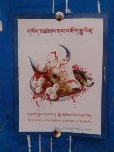 Anti-meat flier distributed by Khenpo Tsültrim Lodrö and widely distributed across Kham.